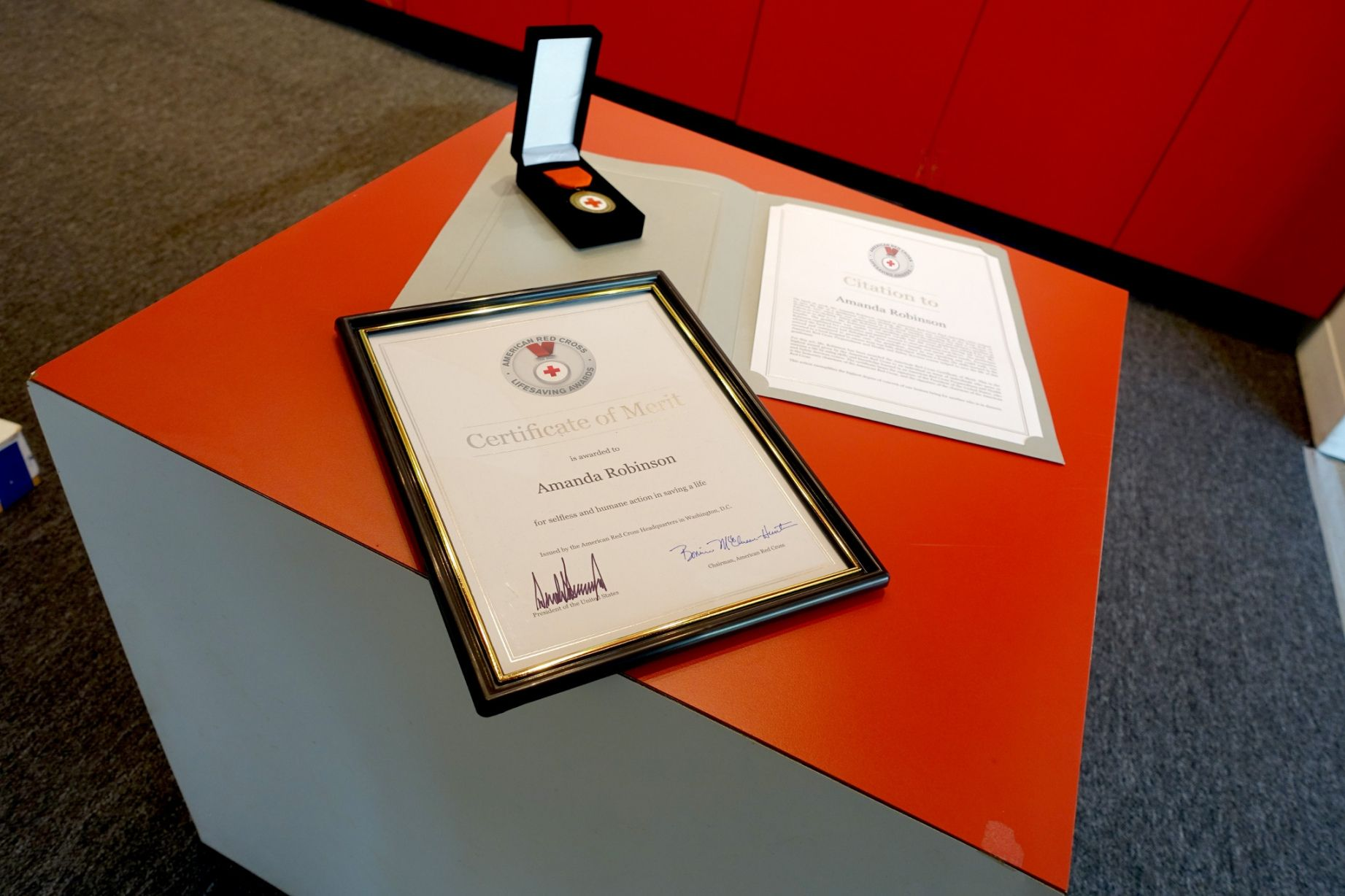 Explore our free life saving award certificate template in