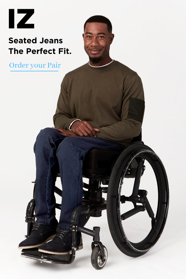 Seated Jeans Men Men Wheelchair Fashion Adaptive Clothing