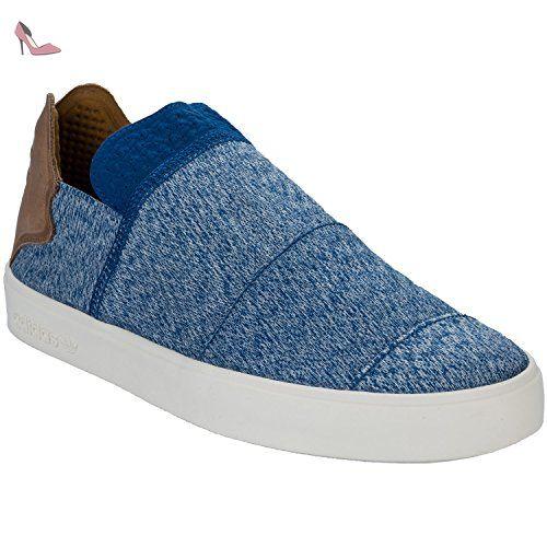 Adidas Originals VULC SLIP ON PHARRELL WILLIAMS Chaussures Mode Sneakers  Homme Bleu - Chaussures adidas originals