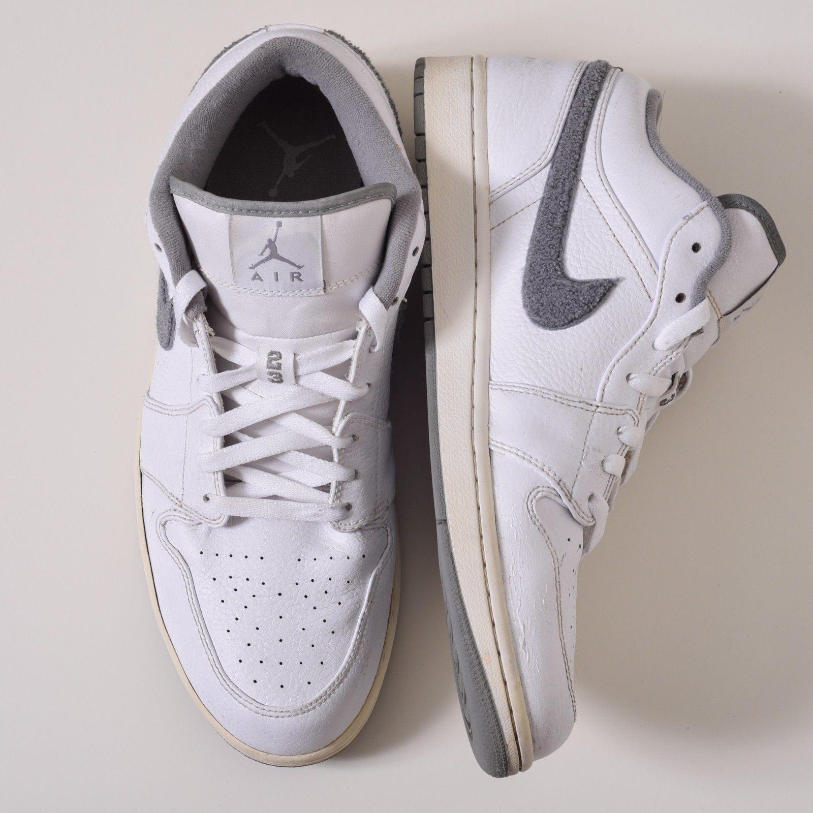 best website b0a7f 52435 Nike Air Jordan 1 Phat Low 338145-008 Mens Sneakers Cool Grey White Size 12