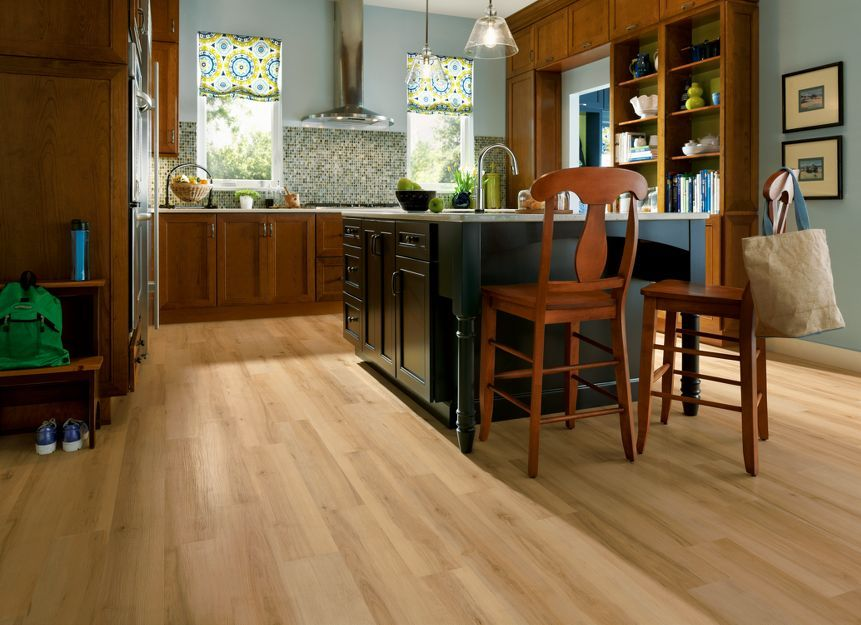 Sugar Creek Maple Natural Vinyl Flooring Kitchen Vinyl Flooring Armstrong Vinyl Flooring