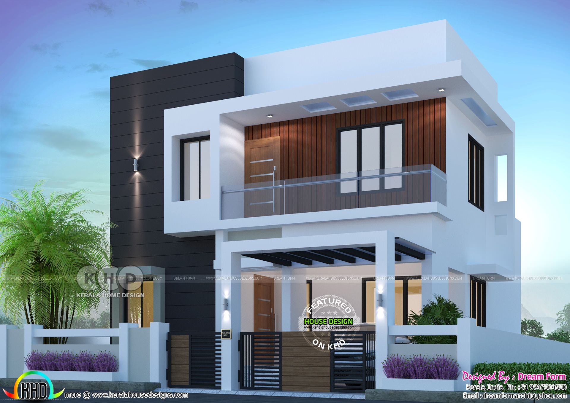 1500 Sq Ft 3 Bedroom Modern Home Plan Small House Elevation Design Duplex House Design Contemporary House Exterior