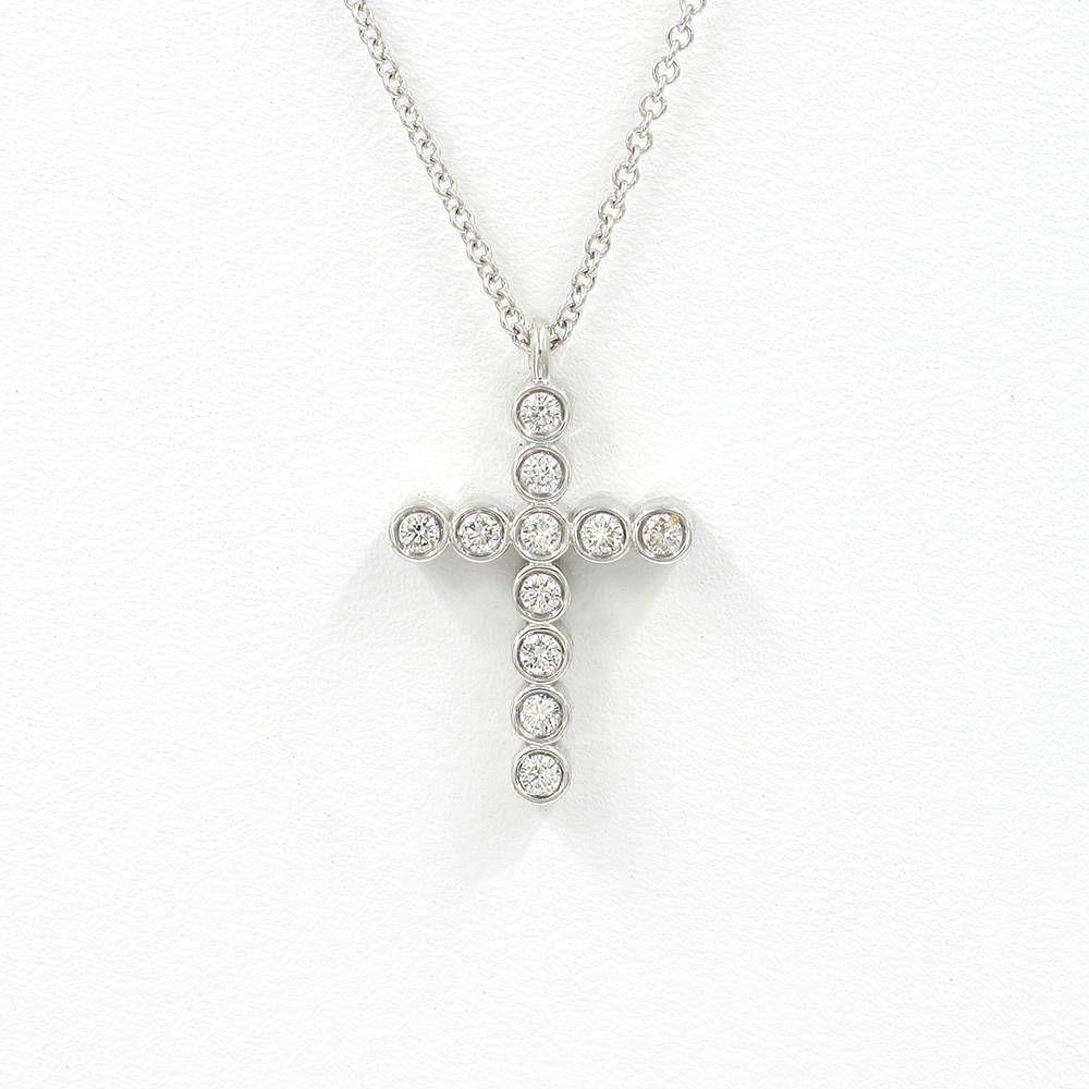 Diamond cross pendant necklacectbezel set cross necklacedainty