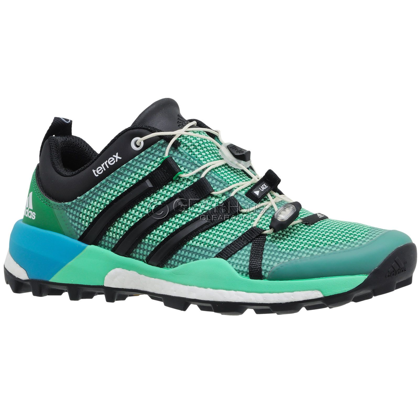 New Adidas Outdoor Terrex Skychaser Womens Trail Running Shoes Hiking Mint  Green