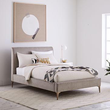 Mitte Des Jahrhunderts · Deko · Andes Deco Upholstered Bed #westelm