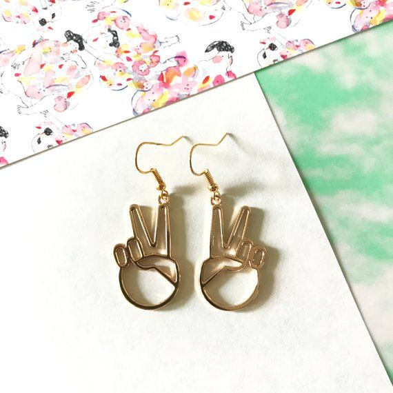 Download Peace sign earrings, silver stud earrings, free global ...