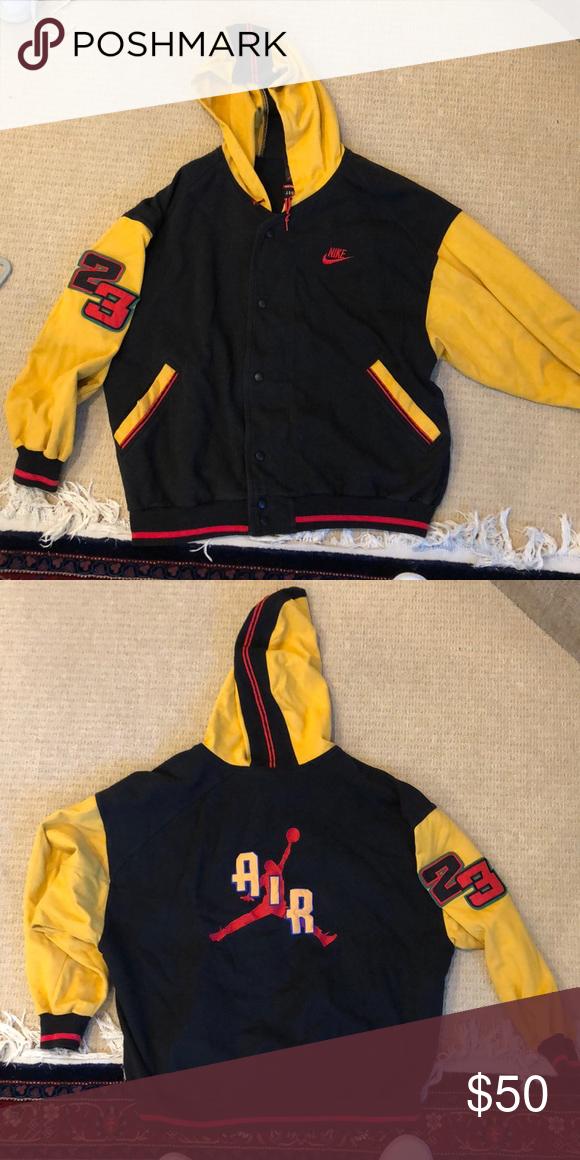 Vintage Nike Jordan Button Up Hoodie In 2020 Vintage Hoodies Vintage Nike Hoodies