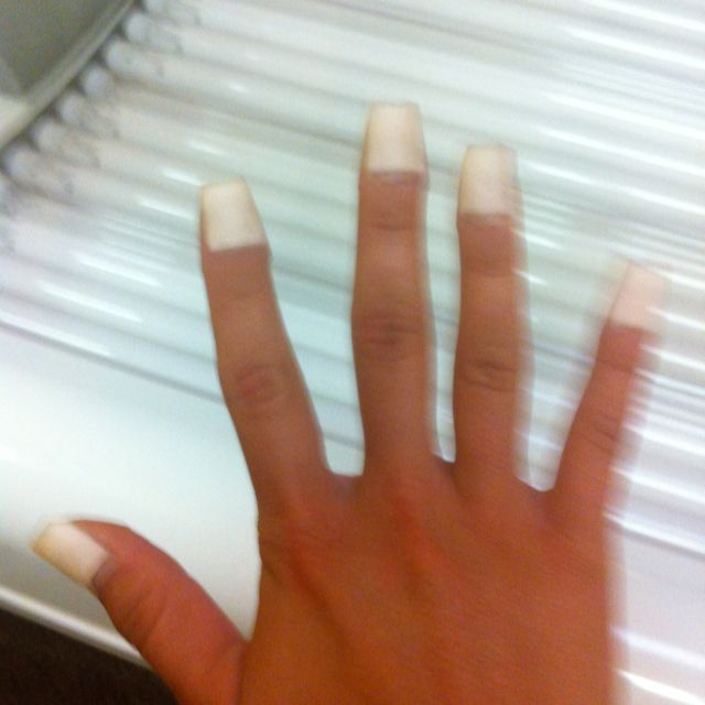 DIY French Tip Nail Covers For In The Tanning Bed. Band Aids!