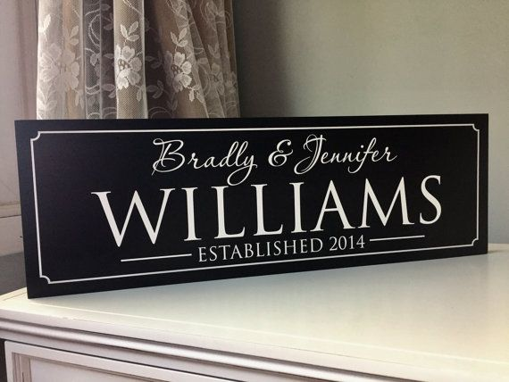 Wooden Signs Personalized Christmas Gifts Custom by SugarCreekLane