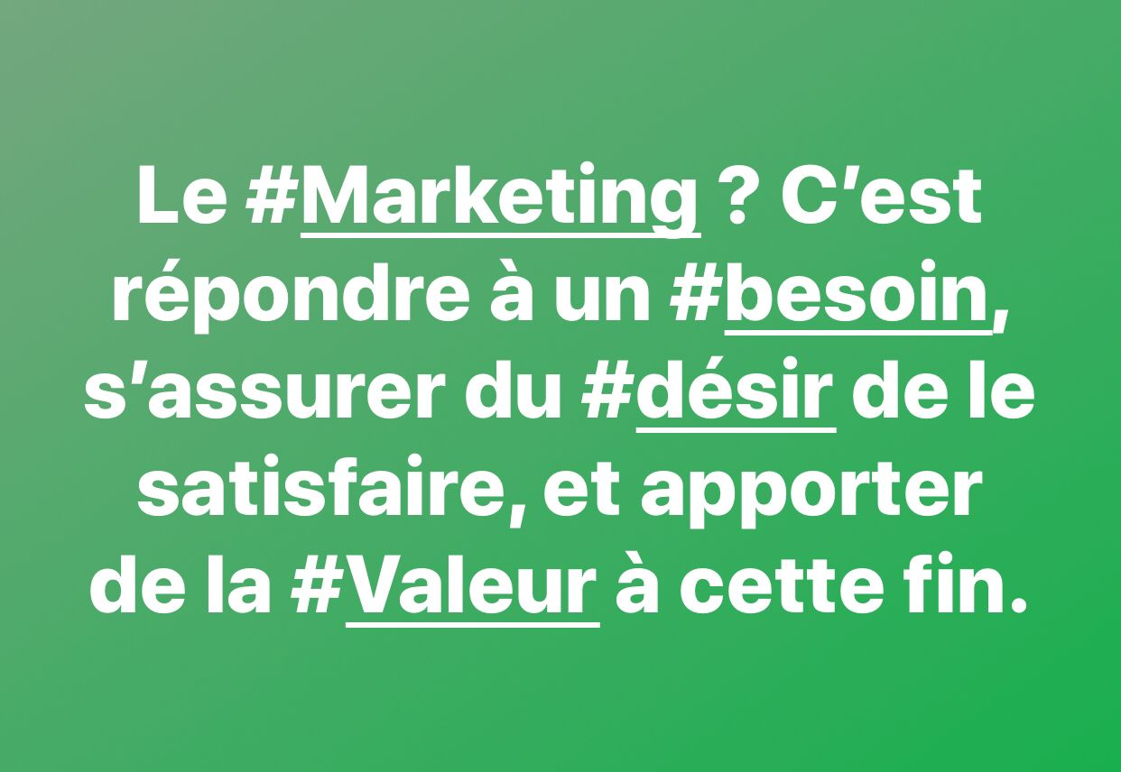 Au Fond C Est Quoi Le Marketing Marketing Je Repond