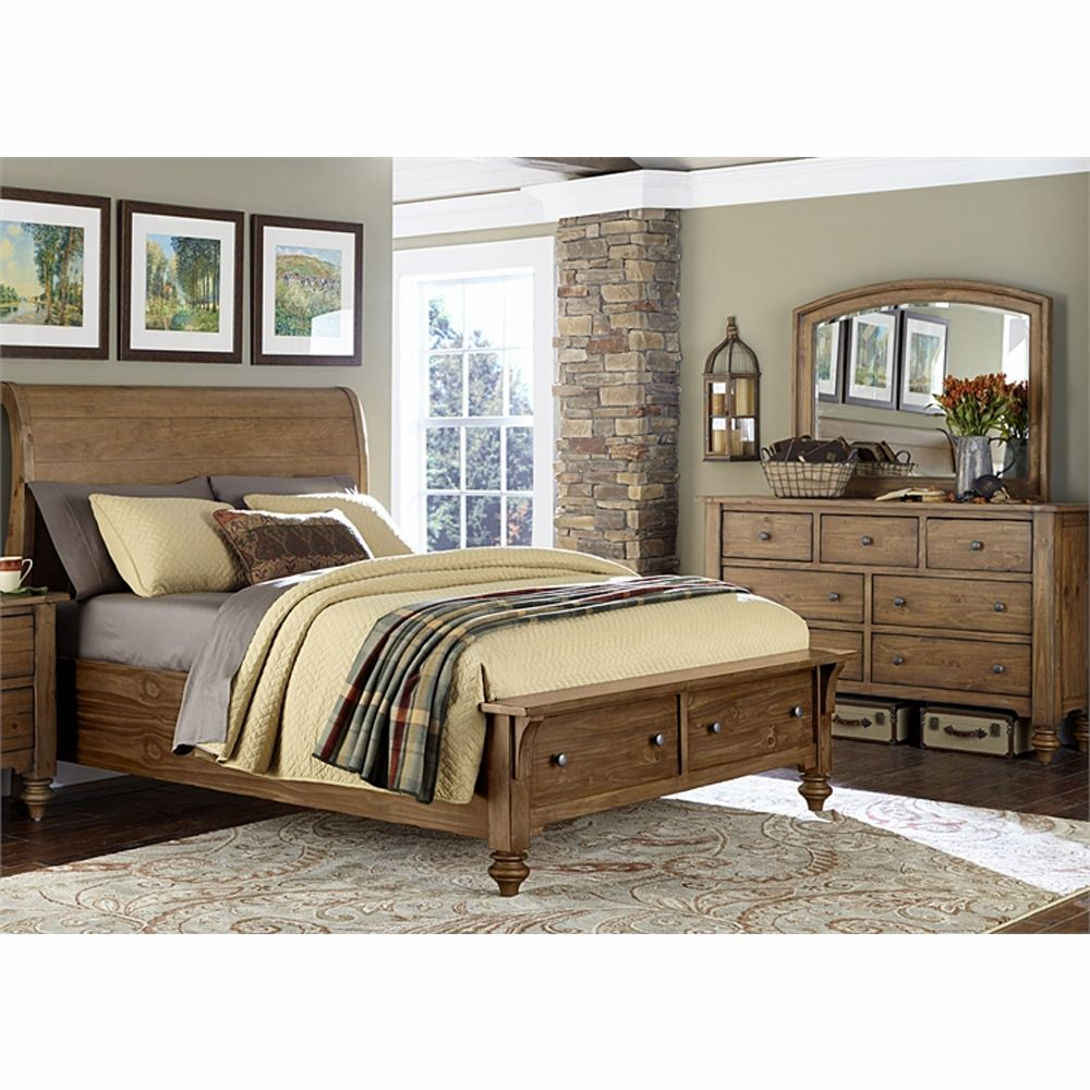 Liberty Furniture Southern Pines II 3 Piece King Storage Bed