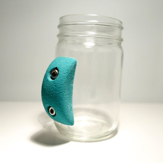 Rock Climbing Mason Jar by crimpme on Etsy