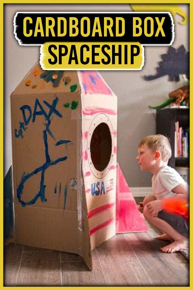 Photo of Cardboard Box Spaceship