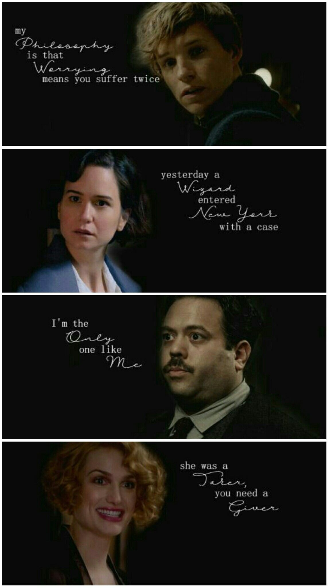 FBAWTFT Characters + Famous Quotes | Newt, Queenie, Tina