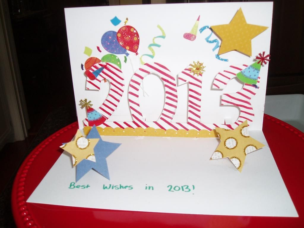 Happy New Year Card | Craft Projects | Pinterest | Card ideas ...