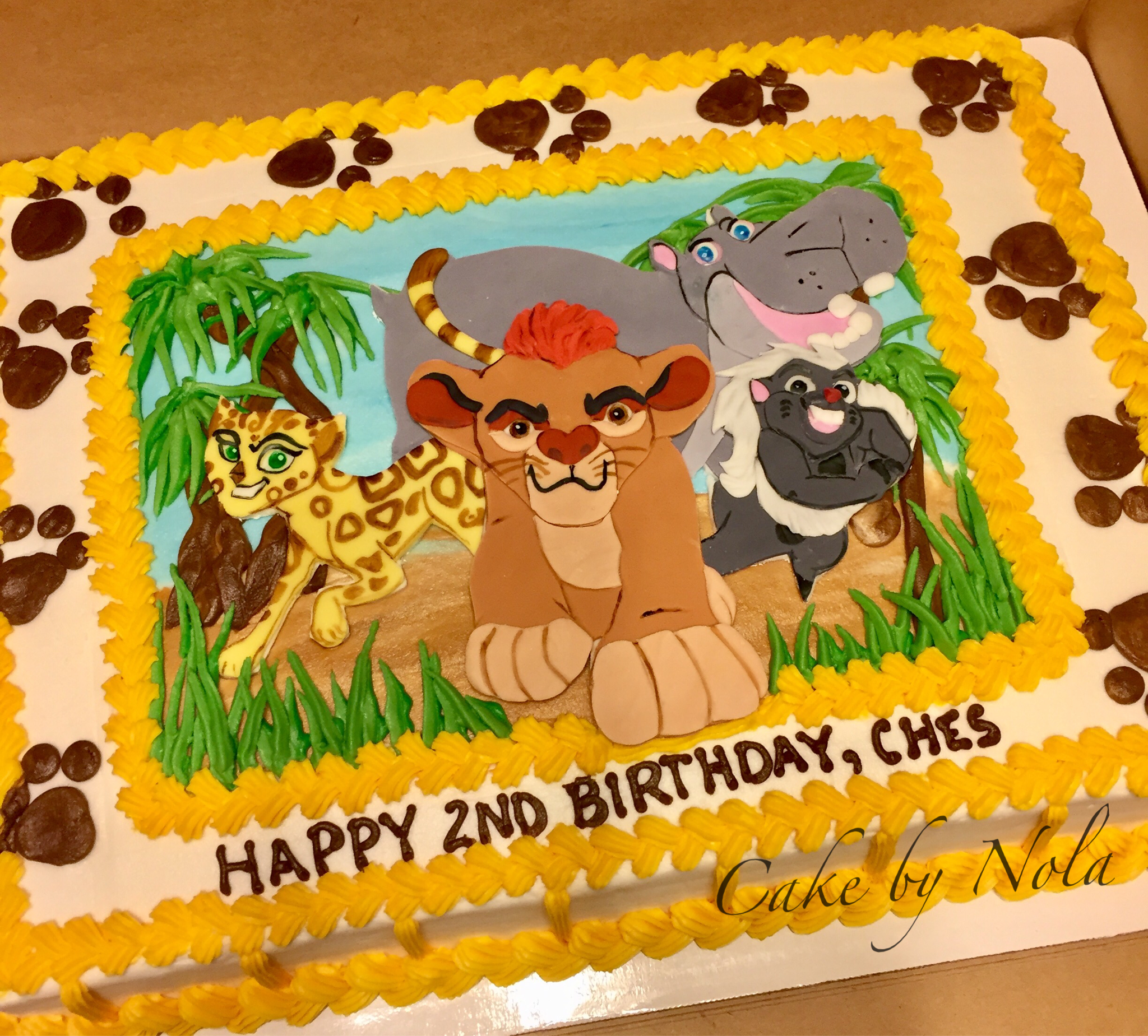 Lion Guard cake Vinnys 2nd Birthday Pinterest Lions Cake and