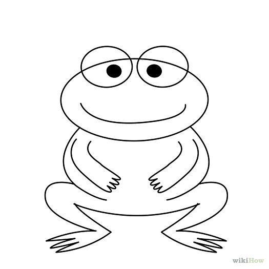 Draw a Cartoon Frog   Drawings, Cartoon drawings, A cartoon