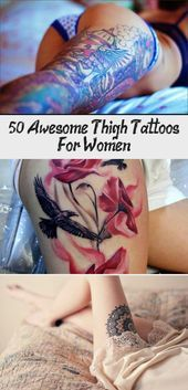 Photo of 50+ Awesome Thigh Tattoos For Women – Tattoos  50+ Awesome Thigh Tattoos for Wom…