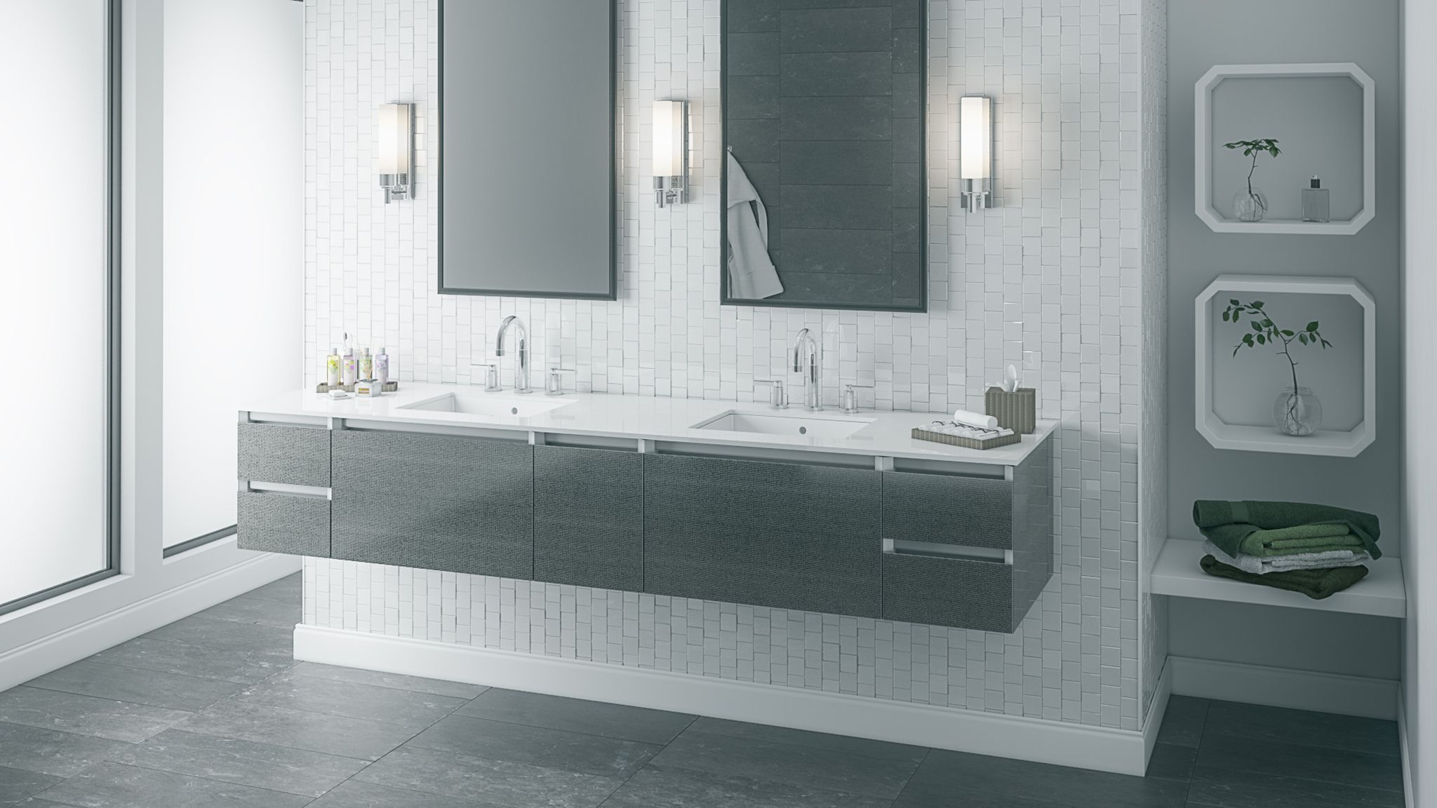 6 Great Aging in Place Features for Your Bathroom -- innovative ways to make your bathroom modern functional and accessible. : bathroom-innovation - designwebi.com