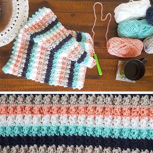 Crochet For Children: Ever So Striped Crochet Baby Blanket - Free ...
