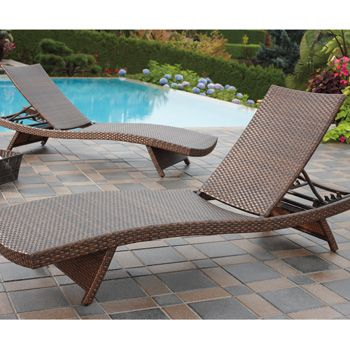 £250 Costco UK - Andersen & Stokke Woven Wicker Chaise Lounge 2 Pack