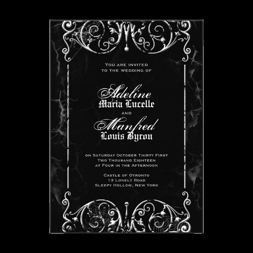 Dark and Debonair: Invitations for Gothic Weddings | Gothic ...