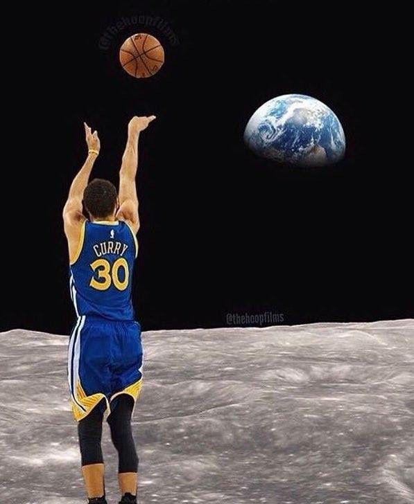 Image result for steph curry moon meme