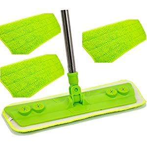 Microfibre Mop Laminate Floor Mop - Clean Dust Wood Laminate and Tile Flooring - The Perfect Floor Mop Sweeper and Dust Cleaning Kit for Your Home - Includes 4 Microfibre Mop Heads Cupboard Pasta-Pulses Cupboard Spices-Seasonings Cupboard Minerals-Supplements Capsules Water Cupboard Supplies Mixes Flour-Mixes