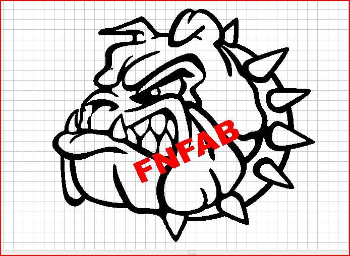 Growling Bull Dog Dxf Format CNC Cutting File