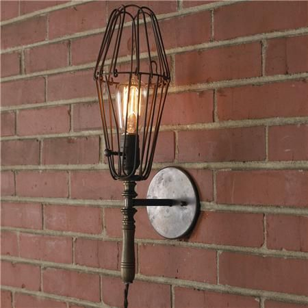 Small Industrial Chic Work Light Sconce Sconce Lighting Sconces Industrial Chic