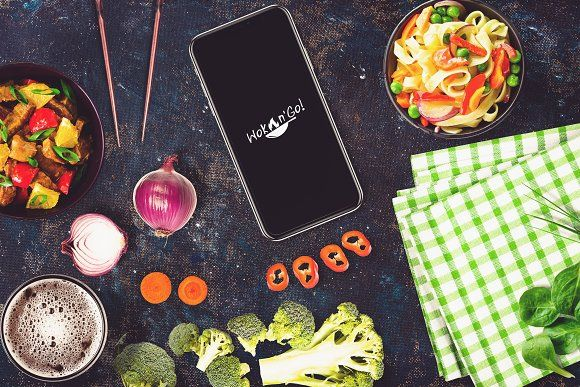 sushi bar iphone x mock up 17 by relineo mock ups on creativemarket