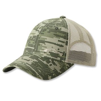 c9c67547f3cf0 Offset Orvis trout logo embroidered on front. Hook-and-loop mesh back  panels allow for maximum breathability.