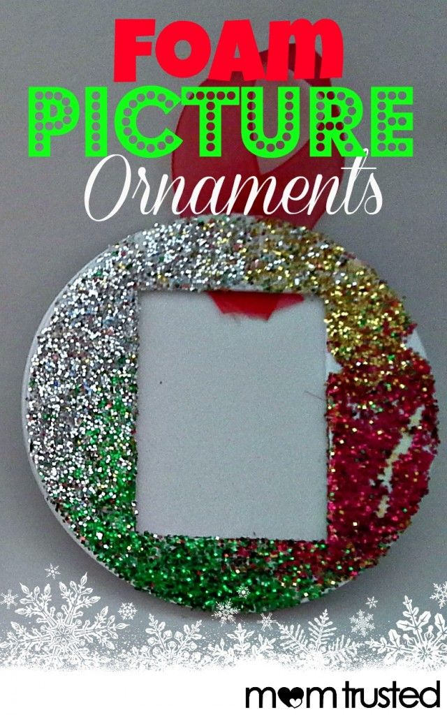 How to make foam picture ornaments for friends, family, and teacher gifts this holiday season.