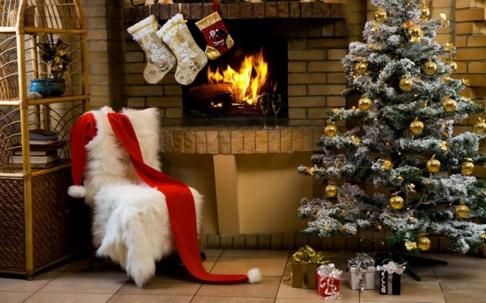 Decorar arbol de navidad pino artificial con efecto nevado bolas doradas como decoraci n - Arbol de navidad nevado artificial ...