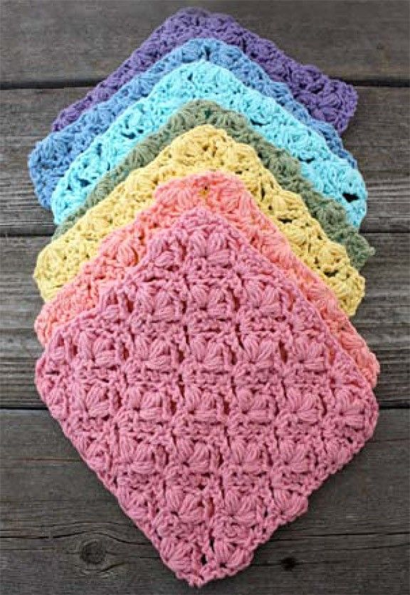 Nice stitch for a baby blanket or crochet this dishcloth using ...