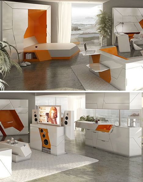5 Room In A Box Designs Form 100 Modular Home Interior From Boxetti  Collection Designed By Rolands Landsbergs