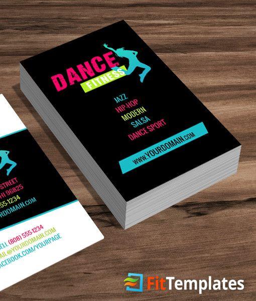 Dance Class Business Card Template Dance class, Card templates and - copy zumba punch card template free