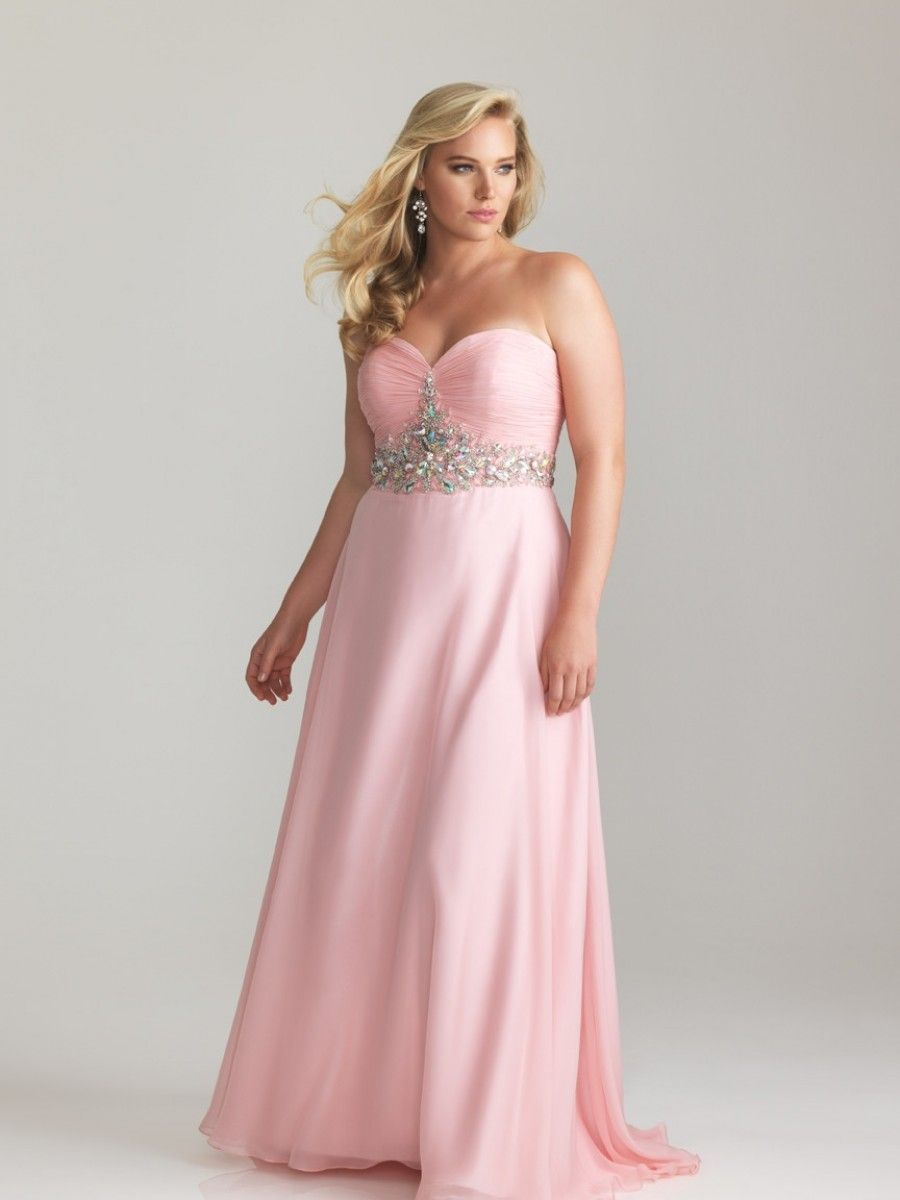 A-line Sweetheart Floor-length Plus Size Prom Dress Evening ...
