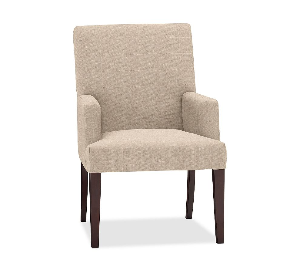 Pb comfort upholstered square arm dining armchair performance everydaylinentm by crypton