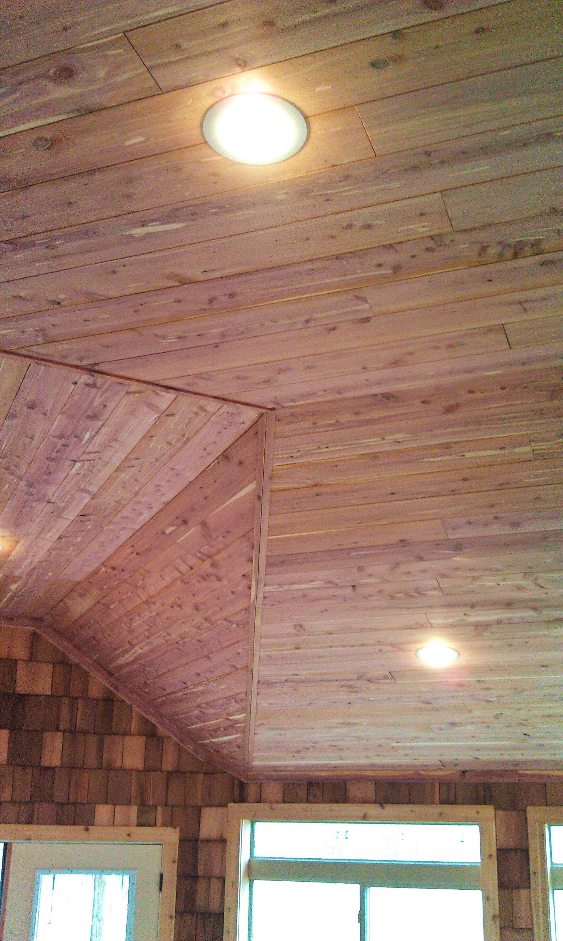 Cedar Lumber Makes For Great Ceiling Planks In 2020 Cedar Lumber Plank Wood