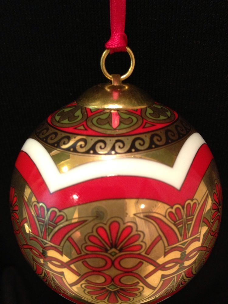 hochst porcelain greek christmas ball ornament made in germany nib - Greek Christmas Decorations