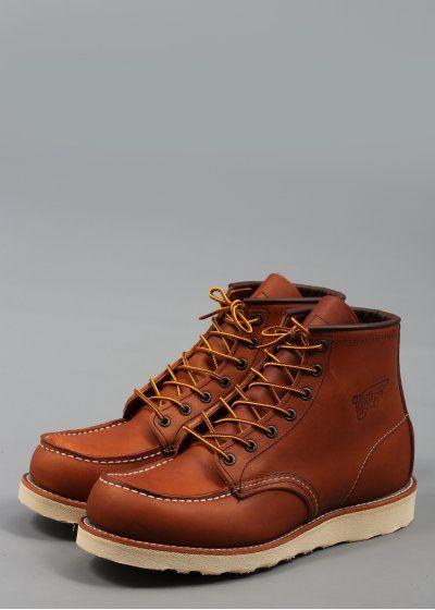 875 Bottes En Cuir - Chaussures Moc Aile Rouge Brun wNzGcB
