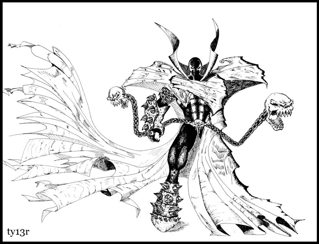 spawn coloring pages