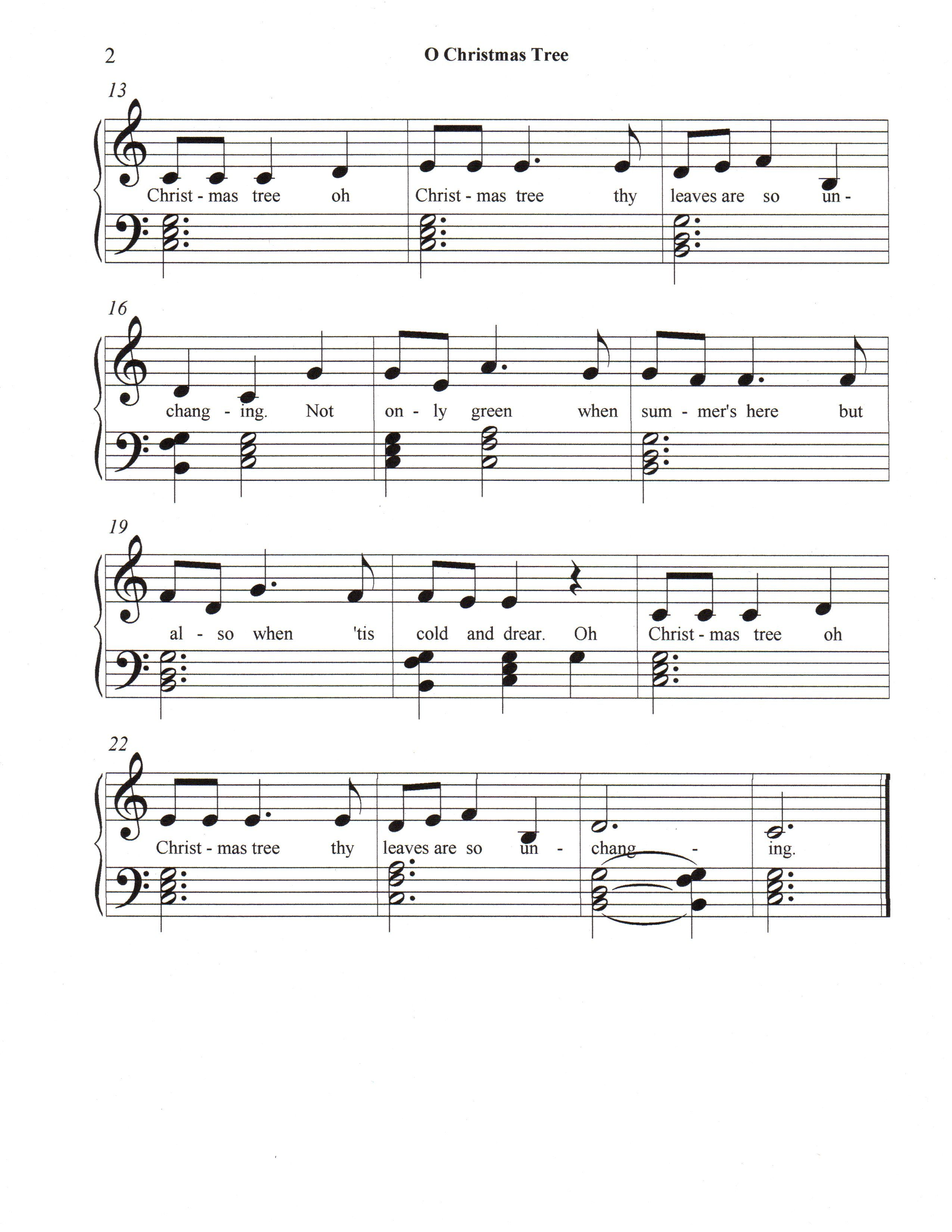O Christmas Tree page 2 of 2, Let\'s Play Music! | Music | Pinterest ...