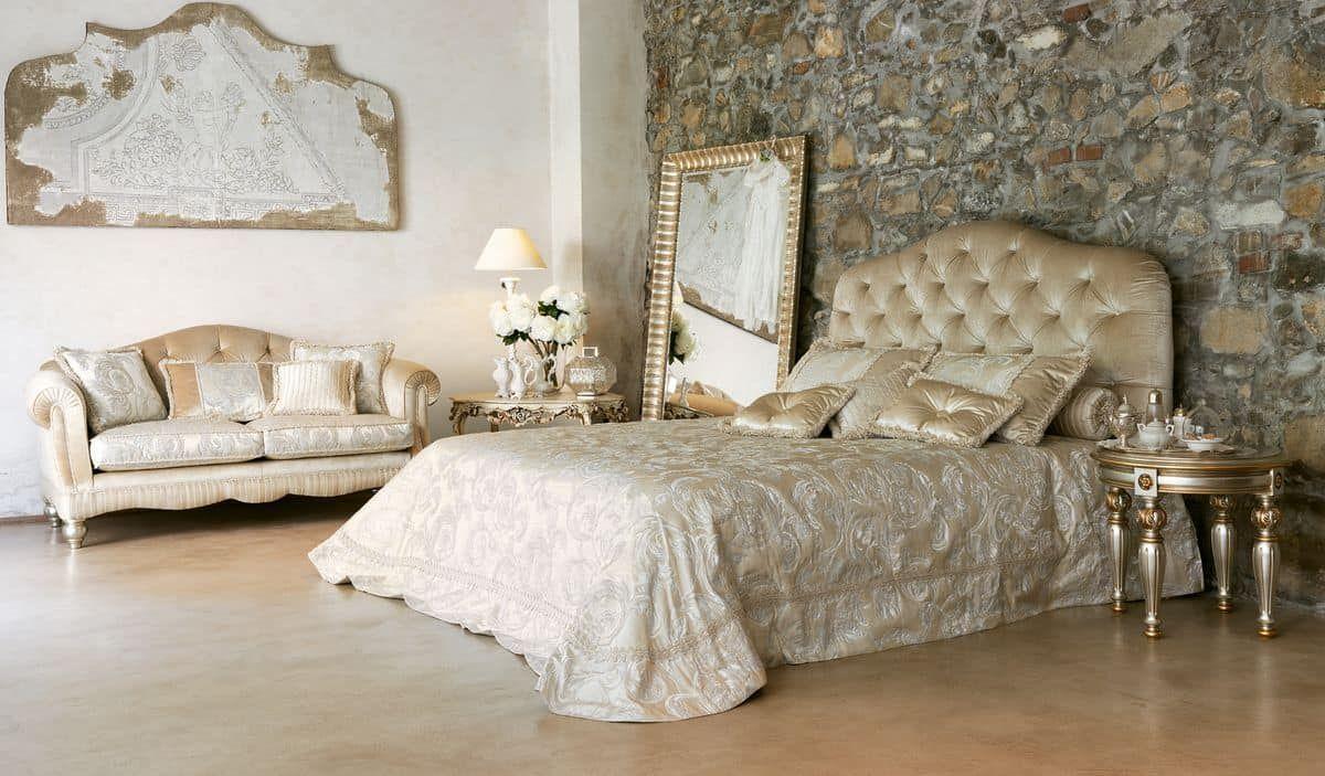 Luxury Klassische Bett Mit Kopfteil Getuftet