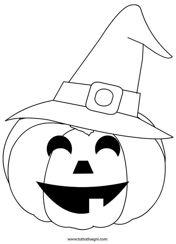 disegni da colorare halloween zucche