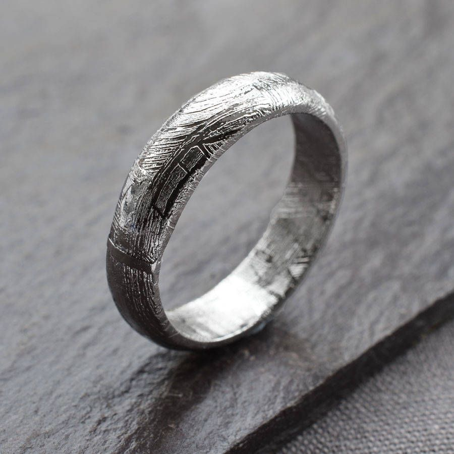meteorite ring band | ring, engagements and wedding
