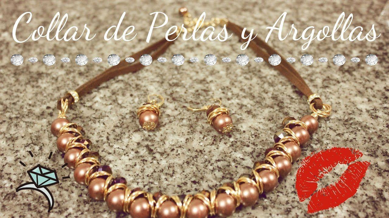 4011278f6cf9 Como hacer un Collar con Perlas y Argollas  Pekas Creaciones