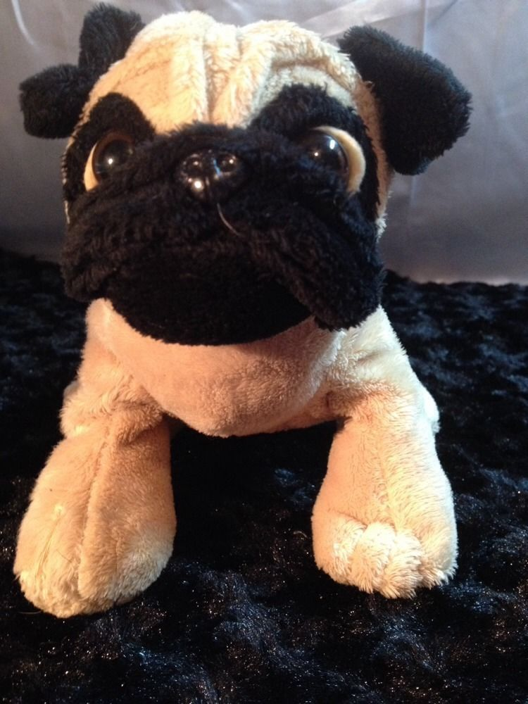 Ganz Webkinz Soft Pug Puppy Dog Plush Stuffed Animal No Code