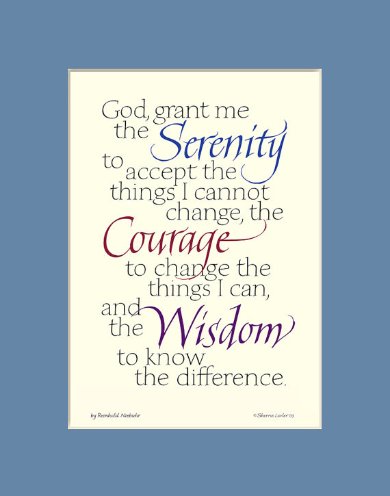 Serenity Prayer 8x10 Serenity Prayer print aa quote 49f83cbd184a2